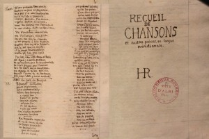 manuscrit rochegude