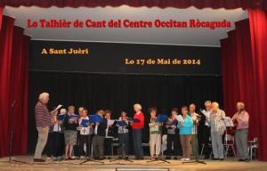 Lo Talhièr de cant  17 de mai de 2014 St Juèri
