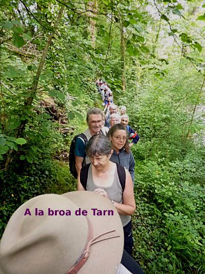 2 - La còla, lo sendarel a la broa de Tarn