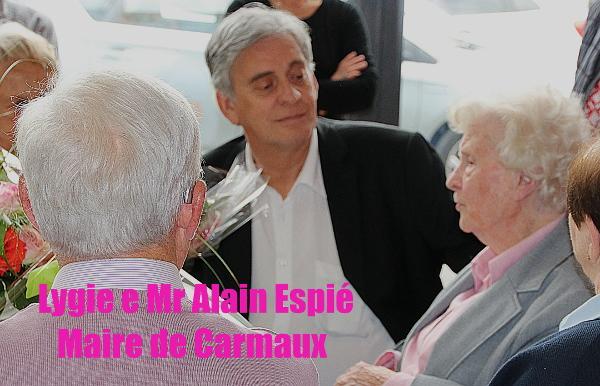 Lygie Bonnafous Valière et Mr Alain Espié Maire de Carmaux