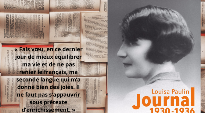 Presentacion del libre «Louisa Paulin : Journal 1930 – 1936»