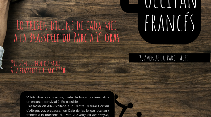 Cafè de las lengas a la Brasserie du Parc