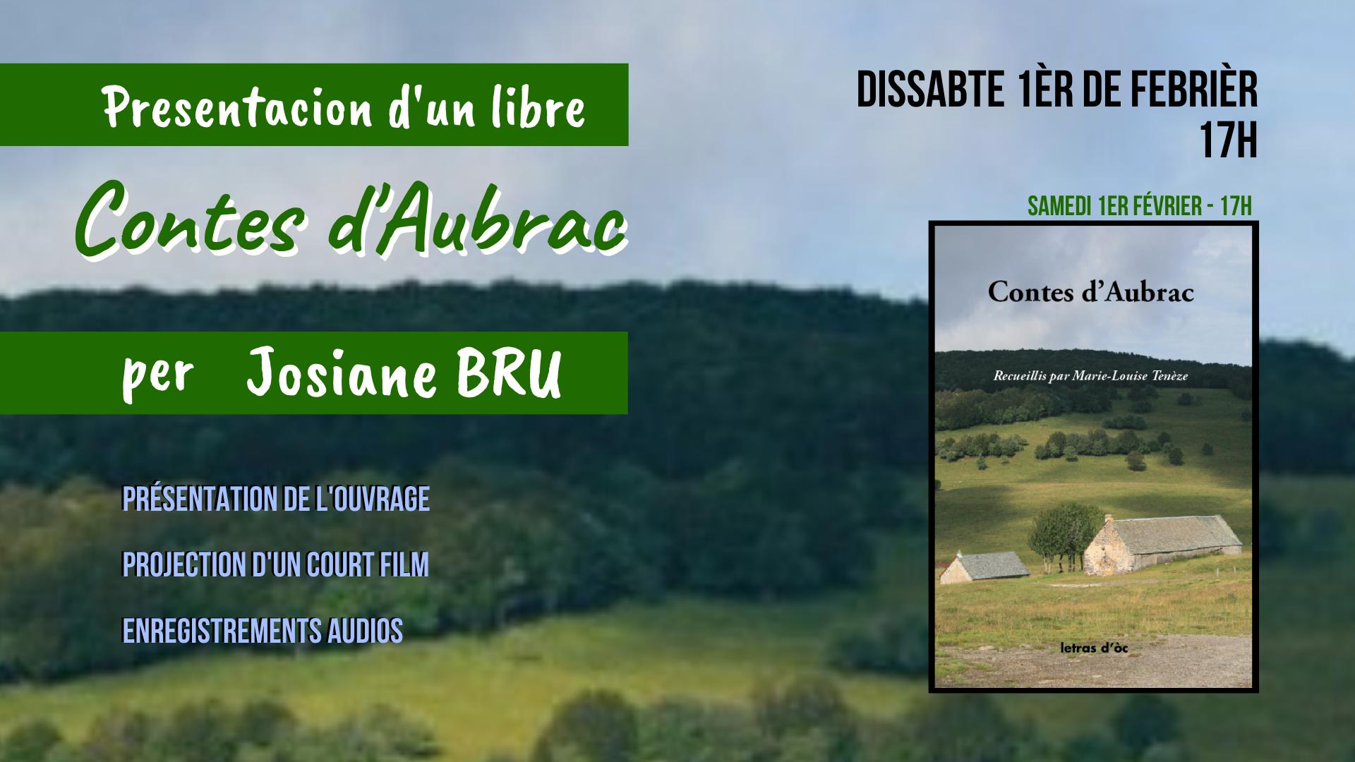 «Contes d'Aubrac» per Josiane Bru