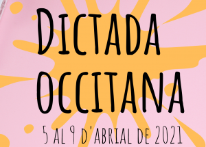Dictada Occitana 2021 : inscripcion