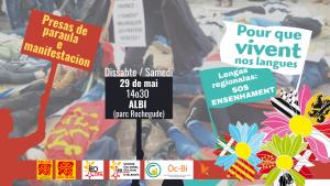 Read more about the article 29 Mai – Pour que vivent nos langues – SOS Ensenhament – ALBI