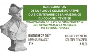 Read more about the article Inauguracion de la placa commemorativa del bicentenari de la naissença del Coronèl Teyssier