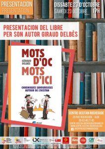 """Read more about the article Presentacion de """"Mots d'oc, mots d'ici"""" per son autor Géraud Delbès"""